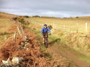 Col (flattyres) on the, slippery if wet, Pant-gwyn descent.